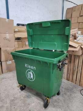 Tempat sampah 660 liter   Tong sampah 660 liter bahan plastik