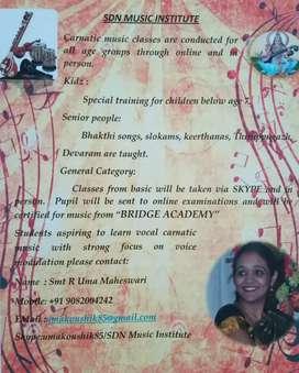 Carnatic music teacher/Basic violin