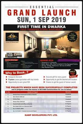 convention studio apartment fully furnished  dwarka sec 28
