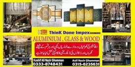 We deals in all kind of Alminium and wood and Glass Work