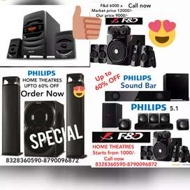 BRAND NEW PHILIPS HOME THEATRE 2.1,3.1,4.1 WITH 1 YEAR WARRANTY