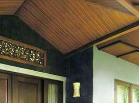 Plafon kayu/lantai kayu/decking kayu/kisi-kisi/partisi kayu/pagar kayu