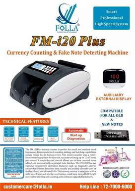 All new FOLLA cash counting machine with one year warranty
