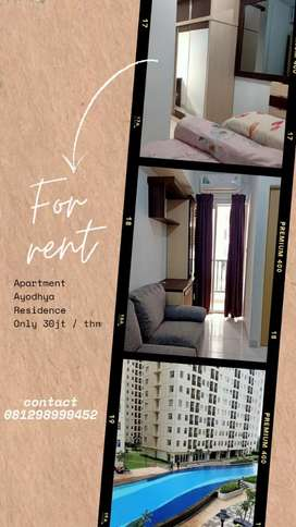 Disewakan apartemen Ayodhya Residence