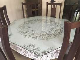 Rose wood dining table and chairs