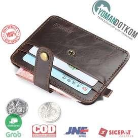C031 JINBAOLAI Dompet Kecil Kulit dengan Hasp Ring