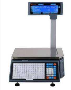 Barcode Label Scales for mini marts , Meat Shop available