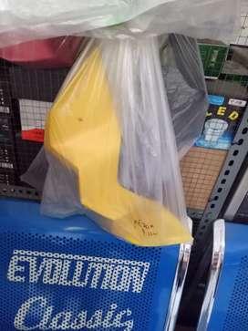 Winglet aerox nemo kuning hitam karbon barang baru