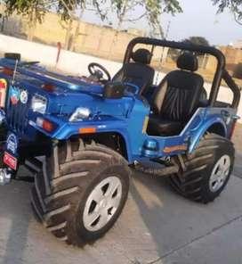 Blue stylish modified jeep