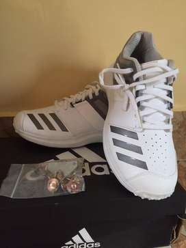 ADDIDAS ADIPOWER VECTOR CRICKET SHOES.BRAND NEW WITH SPIKES..SIZE -7