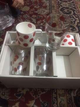 12pc set of glasses.