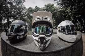 Helm cross merek KYT + googel 100% ( semuanya original )
