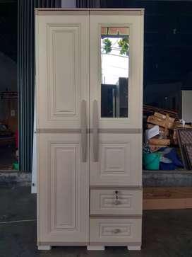 Promo Hemat !! Lemari Plastik 2 Pintu Premium Mewah nan Murah