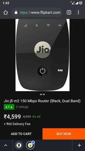 jiofi router jio fi m2 150mbps black dualband