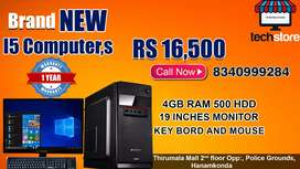 I5 second generation 4GB ram 500 GB hard disk 19 inches monitar