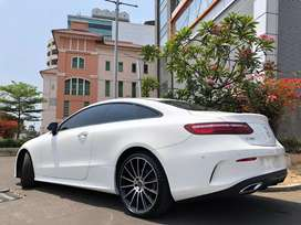 E300 Coupe AMG 2018 White Panoramic 4Cam PBD Speedodigital Full Option