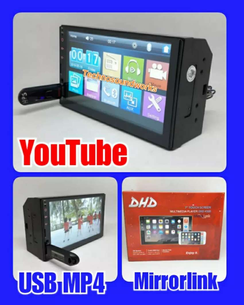 Tv mobil 7 in YouTube sistim Android mp4 usb tape for paket sound 0