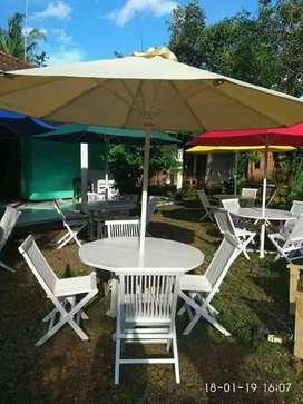 Set meja payung outdoor