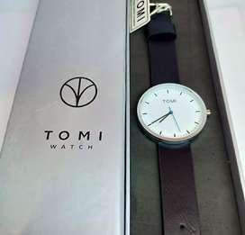 jam tangan tomi watch original leather strap fullset ya 40 mm