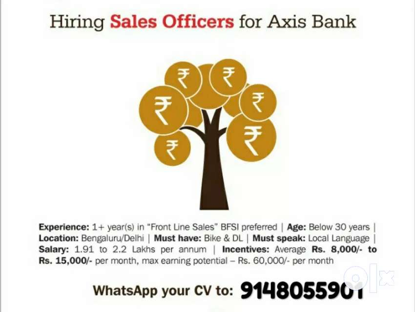 Hiring for sales officers (banglore, delhi) 0