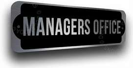 Office Manager (M/F) No Age limit