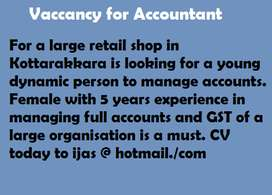 Accountant with Tally & GST Experience