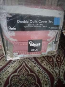 Ideas quilt cover set with pillow and double bed sheer