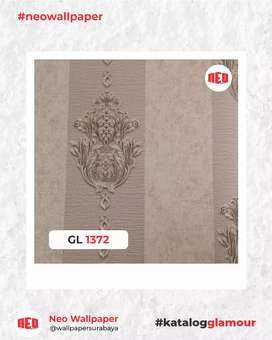 Promo Wallpaper dinding mewah bahan vinyl tekstur timbul murah
