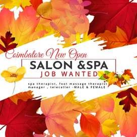 Salon & spa job wanted