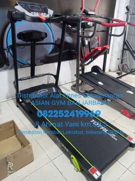 Ready treadmill elektrik 1,5hp manual incline, multifungsi