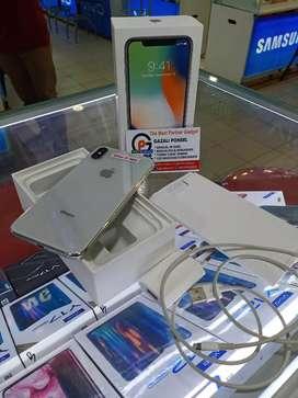 Second Iphone X 64GB Silver Mulus No Kendala