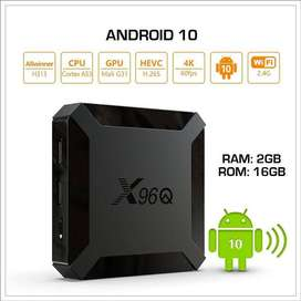 X96Q (2gb-16gb) - OS 10 - Android Tv Box - 800+ free live tv channels