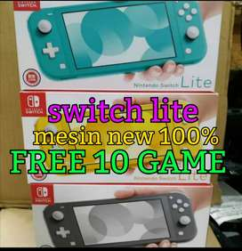 Nintendo switch lite mesin  free 10 game