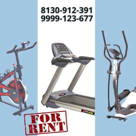 Treadmill, Cross Trainer, and Spinning Bike on Rent in Punjabi Bagh