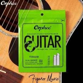 Senar Gitar Akustik / Acoustic Guitar - Orphee TX620 Extra Light