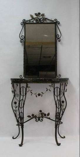 Beautiful Wrought iron Mirror with Table