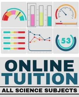 Online tutor available for class 1 to 2ndyear(medical).