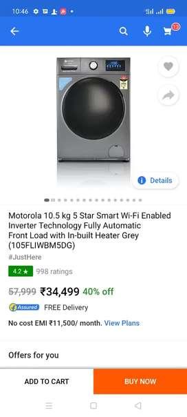Brand New Motorola 10.5 kg Front loading washing machine