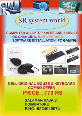 Dell & Zebronics brand keyboard & mouse combo