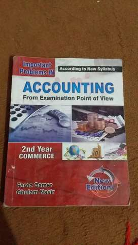 Accounting for 2nd year Commerce