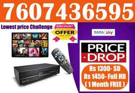 TATA SKY SALE FULL HD CONNECTION@ Rs 1450 ONLY-TATASKY DISH AIRTEL D2H