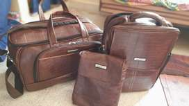 Laptop bag, travelling bag and ladies purse