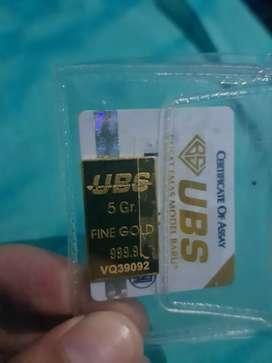 Emas murni batangan UBS 5 gram