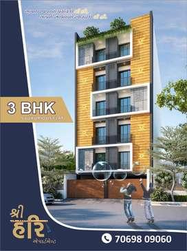 3bhk lucurious flat , satya sai marg, near kalawad road