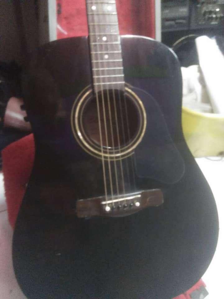 Gitar akustik elektrik SILVERTONE black beauty dreadnought jumbo 0