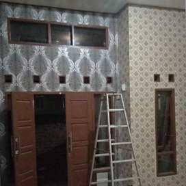 Jasa pasang wallpaper dinding dan wallsticker