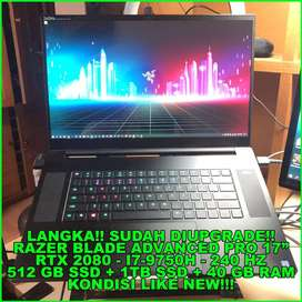 LAPTOP GAMING RAZER BLADE 17 | RTX 2080 | 240HZ | 40GB Ram + 1.5TB SSD
