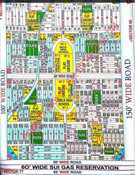 Taiser Town Sec 76/1 on 100ft Road plot available