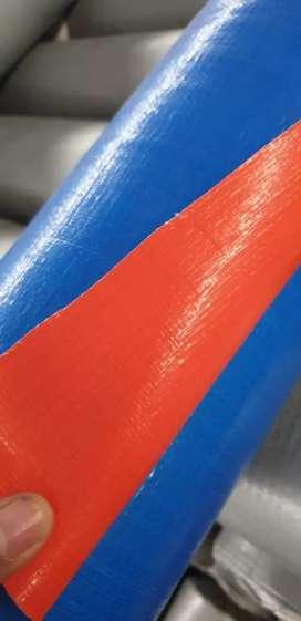 bahan rol  terpal plastik murah  dan dan terpoline  di surabaya