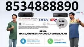 Tata sky D2h 3 Year free airtel tv tatasky all India service Cash on d